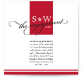 Texan Star Engagement Party Invitations