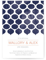 Modern Pattern Engagement Party Invitations