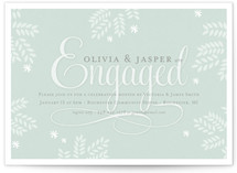 Glass Slipper Engagement Party Invitations