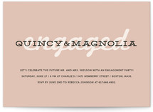 Bold Engagement Engagement Party Invitations