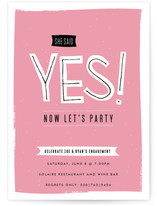 Now Let&#039;s Party Engagement Party Invitations