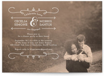 Kiss Me Engagement Party Invitations