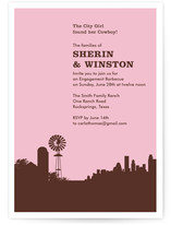 Town & Country Engagement Party Invitations