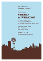 Town &amp; Country Engagement Party Invitations