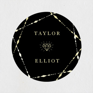 Geometric Diamonds Engagement Party Favor Stickers