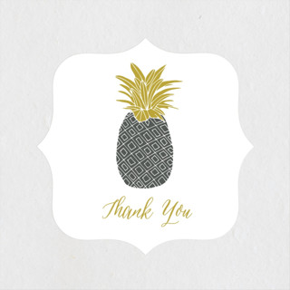 Guilded Pineapples Engagement Party Favor Stickers