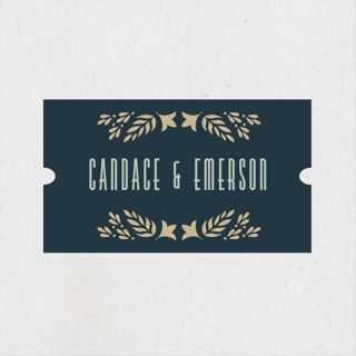 Gilded Love Engagement Party Favor Stickers