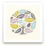 Folk Family Tree Art Prints
