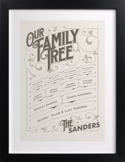 Minted Family Tree Art