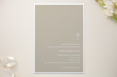 Bisect First Holy Communion Invitations
