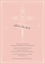 Delicate Cross First Holy Communion Invitations