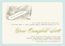 float + birdie baptism First Holy Communion Invitations