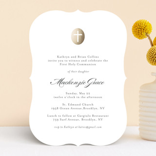 Medallion Cross First Communion Invitations