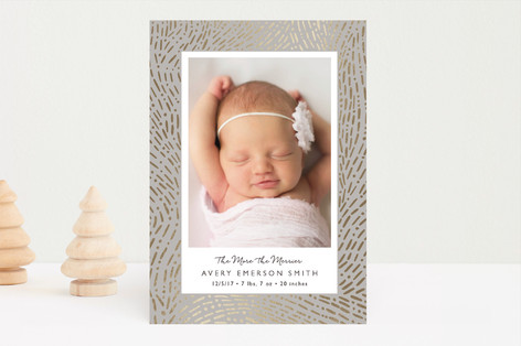 Lux Confetti Foil-Pressed Holiday Birth Announcements