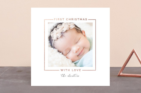 BabysFirstChristmas Foil-Pressed Holiday Birth Announcements