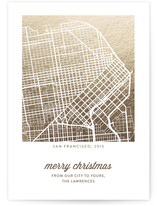 Merry Christmas Custom Foil Map