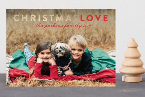 Christmas Love Foil-pressed Postcard