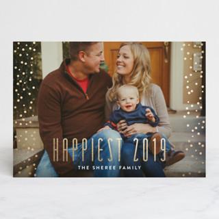 Glamorous Confetti Foil-pressed Postcard
