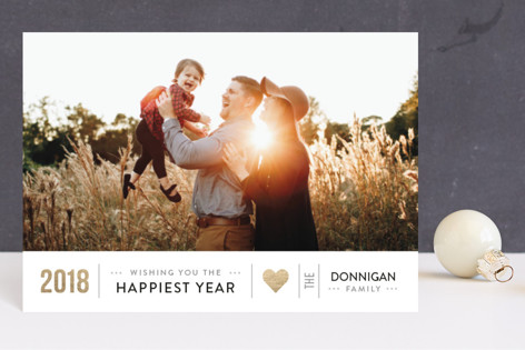 Happiest Year Foil-pressed Postcard