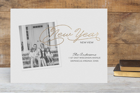 New Year, New View Foil-pressed Postcard
