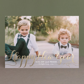 Spirit of Christmas Foil-pressed Postcard
