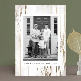 Gilded Woodgrain Foil-pressed Postcard