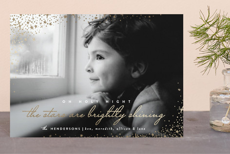 Brightly Shining Foil-pressed Postcard