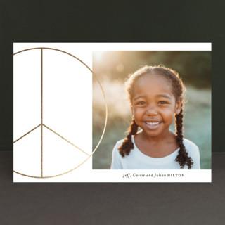 Big Peace Foil-pressed Postcard