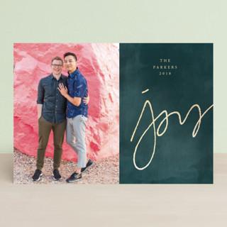 A  Simple  Joy Foil-pressed Postcard