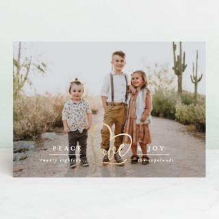 Peace Heart & Joy Foil-pressed Postcard
