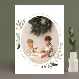 Christmas Sprigs Foil-pressed Postcard