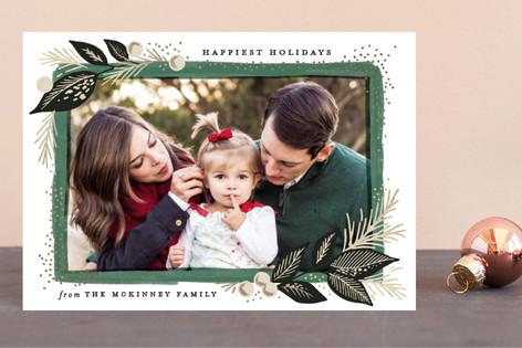 Branch painted frame Foil-pressed Postcard