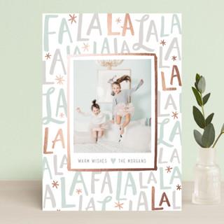 Festive FaLaLa Foil-pressed Postcard