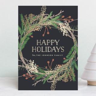 Pine Circle Foil-pressed Postcard