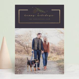 Simple Frame Foil-pressed Postcard