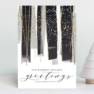 gilded new year streamers Foil-pressed Postcard