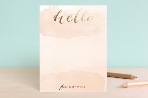 Hello Friend Foil-Pressed Stationery