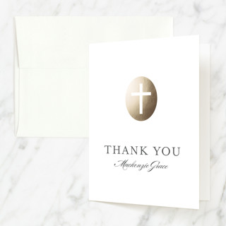 Medallion Cross First Holy Communion Thank You Cards