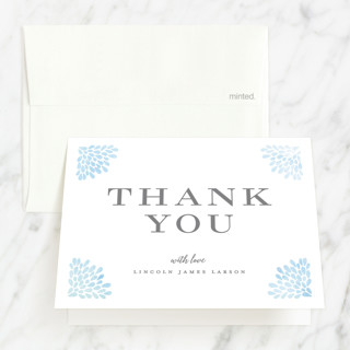 Water drops First Holy Communion Thank You Cards