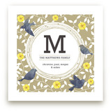 Watercolor Birds Monogram Art Prints