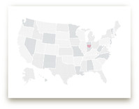 Polka Dotted States of America Art Prints