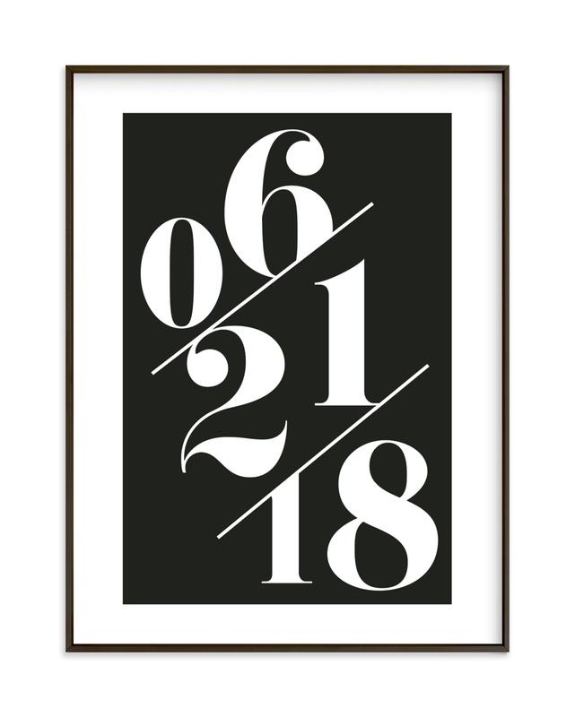 Serif Date Memento Custom Art Print