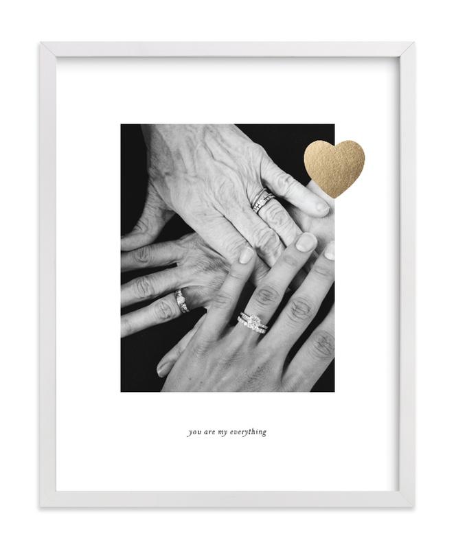 Mom Love Foil Pressed Photo Art Print
