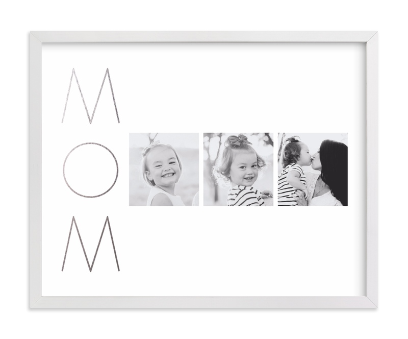 Mom Made Elegant Foil Pressed Photo Art Print