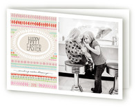 Painted Stripe Easter Greeting Cards