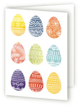 Painted Eggs Easter Greeting Cards