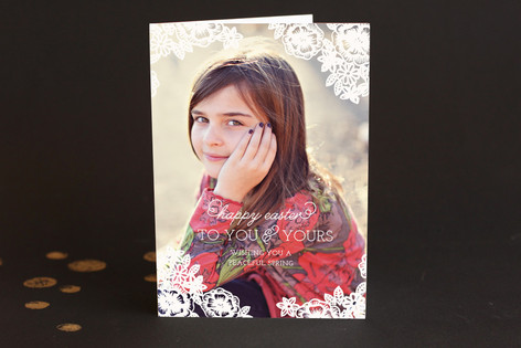 Floral Lace Easter Greeting Cards