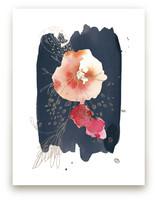 Fleur Foil-Pressed Wall Art