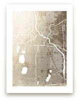 Minneapolis Map Foil-Pressed Wall Art
