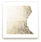 Milwaukee Map by Melissa Kelman